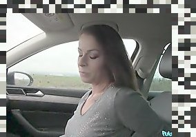 pov car blowjob